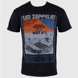 tričko pánske Led Zeppelin - Tampa Stadium - Black - LIVE NATION, LIVE NATION, Led Zeppelin