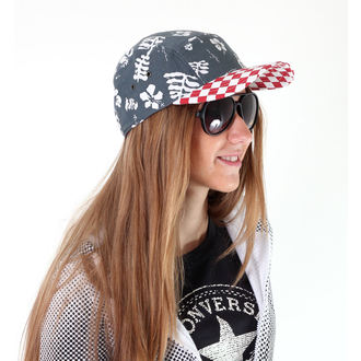 šiltovka VANS - Davis 5 Panel Camper Hat - Red Check/Navy Aloha - VUM29CO