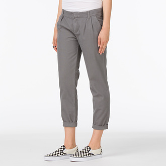 nohavice dámske VANS - G Pleated Chino - Graphite