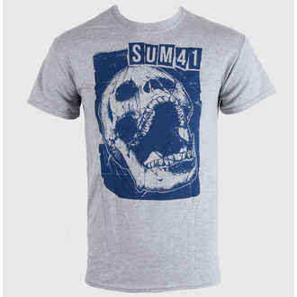 tričko pánske SUM 41 - Skull Sports - Grey - LIVE NATION - 10509