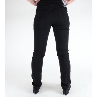 nohavice (unisex) 3RDAND56th - Hipster Slim Fit - Black