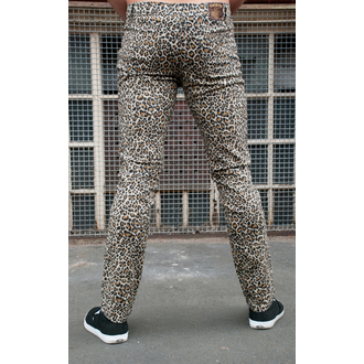 nohavice pánske 3RDAND56th - Leopard Skinny Jeans - Natural Leo, 3RDAND56th