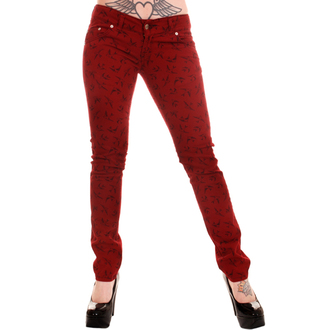 nohavice dámske 3RDAND56th - Swallow Skinny Jeans - Wine, 3RDAND56th