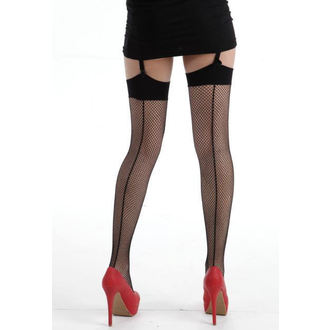 nadkolienky PAMELA MANN - Fishnet Seamed Stockings - Black - 027