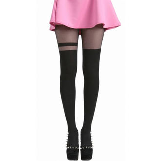 pančucháče PAMELA MANN - Over The Knee Stripe Tights - Black - 048