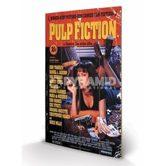 drevený obraz Pulp Fiction - Cover - PYRAMID POSTERS - LW10497P