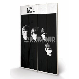 drevený obraz The Beatles - With The Beatles - PYRAMID POSTERS - LW10959P
