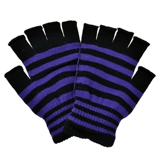 rukavice bezprsté POIZEN INDUSTRIES - Stripe - Black/Purple