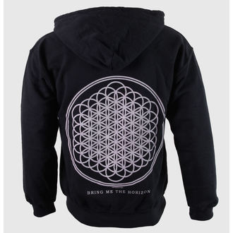 mikina pánska Bring Me The Horizon - Flower Of Life Zips - Blk - ROCK OFF - BMTHHD01