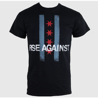 tričko pánske Rise Against - Flag - Black - KINGS ROAD - 43674