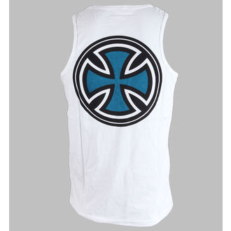 tielko pánske INDEPENDENT - PIN LINED CLASSIC CROSS VEST - WHITE