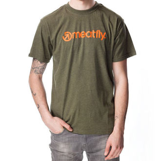 tričko pánske MEATFLY - LOGO E - Heather Military