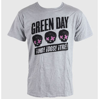 tričko pánske Green Day - Heads Better Than - Grey - BRAVADO EU - GDTS03MG
