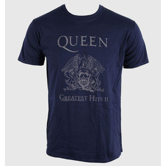 tričko pánske Queen - Greatest Hits II - Navy - BRAVADO EU, BRAVADO EU, Queen