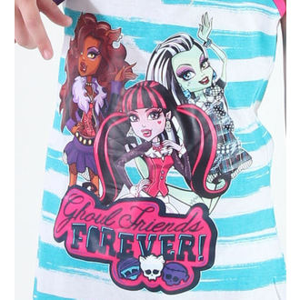 šaty dievčenská TV MANIA Monster High - White/Turquise