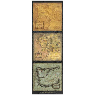 plagát Lord of the Rings - Maps of Middle Earth - DP0455