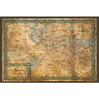 plagát The Hobit - Map of the Shire - GB posters - FP2859