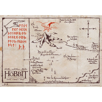 mapa The Hobit - Mountain Map Parchment - GB posters - SPM003