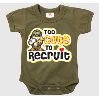 body detské ROTHCO - TOO CUTE TO RECRUIT - OD - 67150
