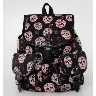 batoh BANNED - Sugar Skull - Black, BANNED