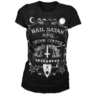 tričko dámske BLACK CRAFT - Hail Satan & Drink Coffee - Black - WT001HE