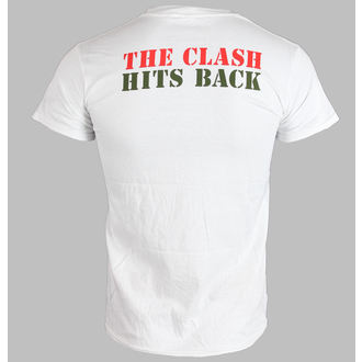 tričko pánske THE CLASH - HITS BACK JUMBO - WHITE - LIVE NATION, LIVE NATION, Clash