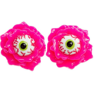 náušnice SOURPUSS - Eyeball Corsage - Pink - SPEA15