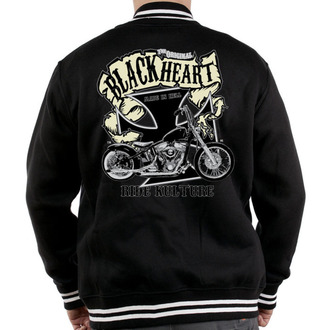 mikina pánska Baseball BLACK HEART - Motorcycle K. - Black