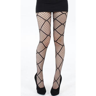 pančucháče PAMELA MANN - Large Diamond Net Tights - Black - 110