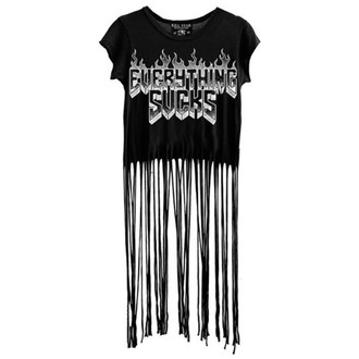 tričko dámske (top) KILLSTAR - Everything Sucks Fringe - Black
