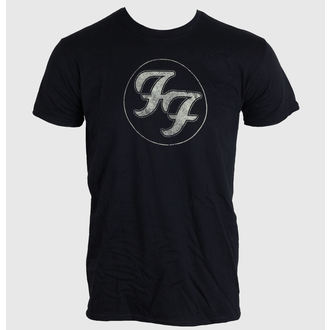 tričko pánske FOO FIGHTERS - LOGO IN GOLD CIRCLE - BLACK - LIVE NATION - PEFFI062