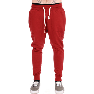 nohavice unisex (tepláky) 3RDAND56th - Carrot Fit Jogger - Claret, 3RDAND56th