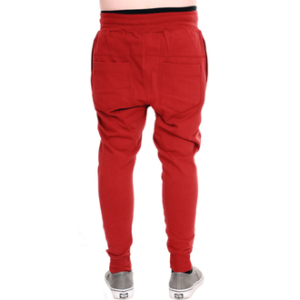 nohavice unisex (tepláky) 3RDAND56th - Carrot Fit Jogger - Claret - JM1008