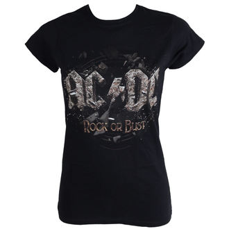 tričko dámske AC/DC - Rock Or Bust - Black - LIVE NATION - PEACDC4005