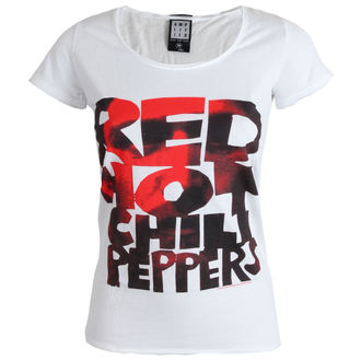 tričko dámske Red Hot Chilli Peppers - Type Face Fill - White - AMPLIFIED, AMPLIFIED, Red Hot Chili Peppers