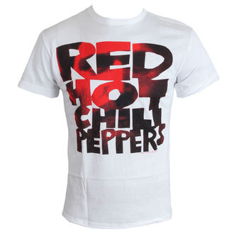 tričko pánske Red Hot Chilli Peppers - Type Face Fill - White - AMPLIFIED, AMPLIFIED, Red Hot Chili Peppers