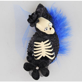sponka do vlasov Skeleton Blue / Black - NS165