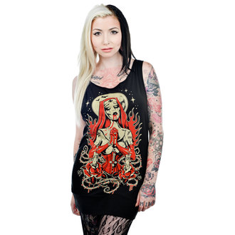 tielko dámske (top) TOO FAST - Faith Tunic - Zombie Nun - BLK