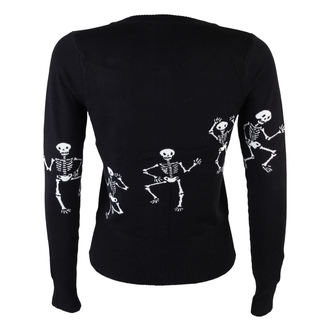 sveter dámsky TOO FAST - Cardigan - Dancing Skeletons