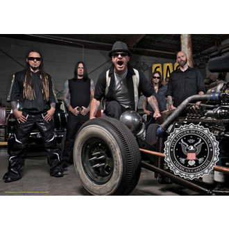 vlajka Five Finger Death Punch - Band Photo, HEART ROCK, Five Finger Death Punch