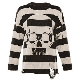 sveter dámsky IRON FIST - Urban Decay Stripe - BLK / Offwht - IF003693