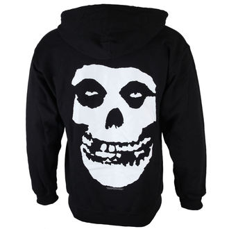 mikina pánska Misfits - Skull And Logo - Black - LIVE NATION - PE12656HSBP
