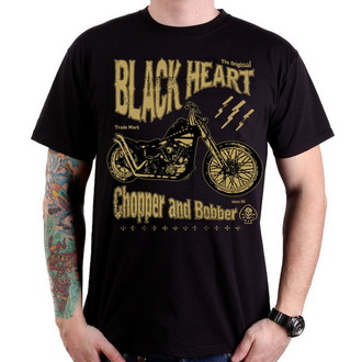 tričko pánske BLACK HEART - Chopper And Bobber - Black - BH079