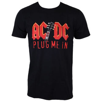 tričko pánske AC/DC - Plug me in with Angus Young - BLK - LOW FREQUENCY - ACTS050012