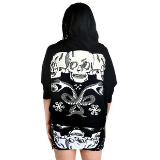 sveter dámsky TOO FAST - Shrug Cardigan - Baroque Skull - TOO003