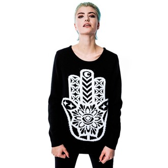 sveter (unisex) KILLSTAR - Hamsa - Black, KILLSTAR