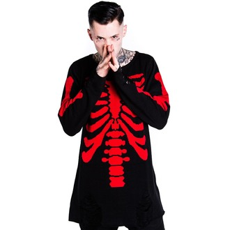 sveter (unisex) KILLSTAR - Skeletor - Red, KILLSTAR