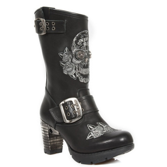 topánky NEW ROCK - NEGRO BORDADOS GRIS - M.TR047-S1