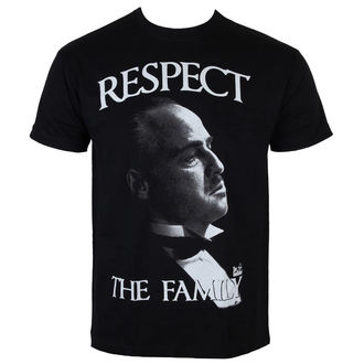tričko pánske Kmotr - The Gothfather - Respect The Family - Black - HYBRIS - PM-1-TGF005-H26-15