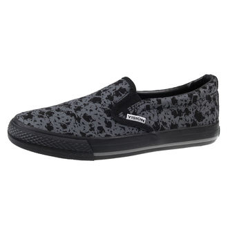 topánky VISION - Slip-On - Charcoal / Skulls - VMS6FWSO01